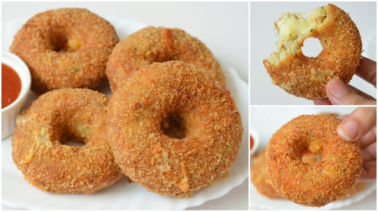 CHICKEN CHEESE DONUTS by (YES I CAN COOK)