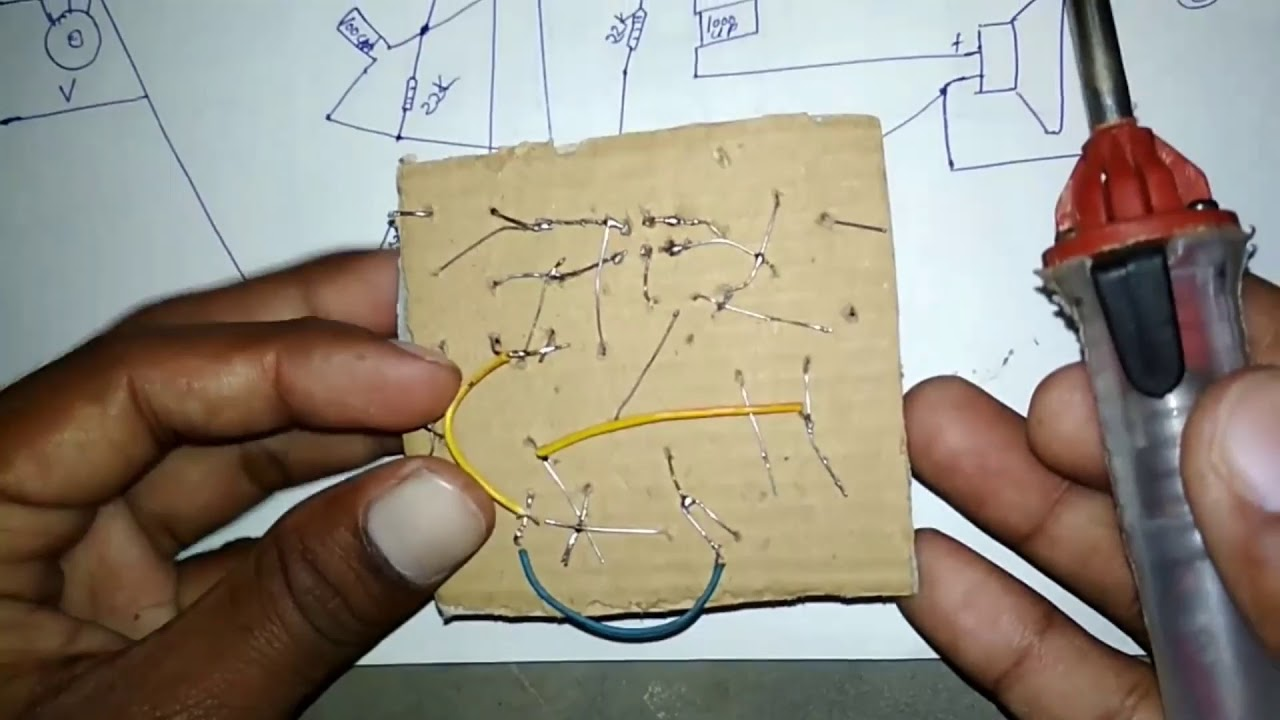 how to make easy stereo amplifier circuit ic tda 2050 very nice sounds [ 1280 x 720 Pixel ]