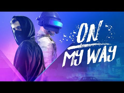 Alan Walker - On My Way (Lyrics) Ft. Sabrina Carpenter & Farruko [PUBG Edition]
