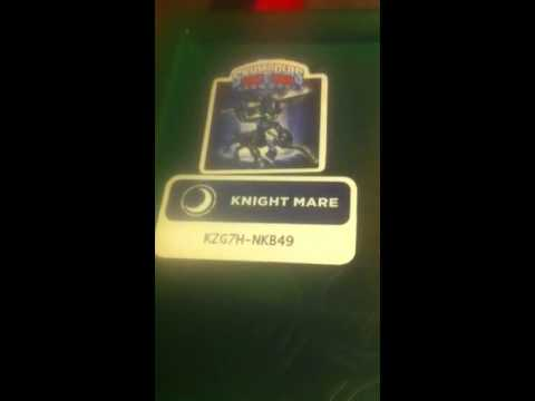 give away code for Knight Mare: Skylanders Trap Team - YouTube