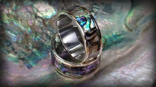 Abalone, Silver and Mokume-gane Inlay Ring - Detailed Tutorial