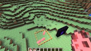 Minecraft how to turn a pig into a zombie pigman (no mod)