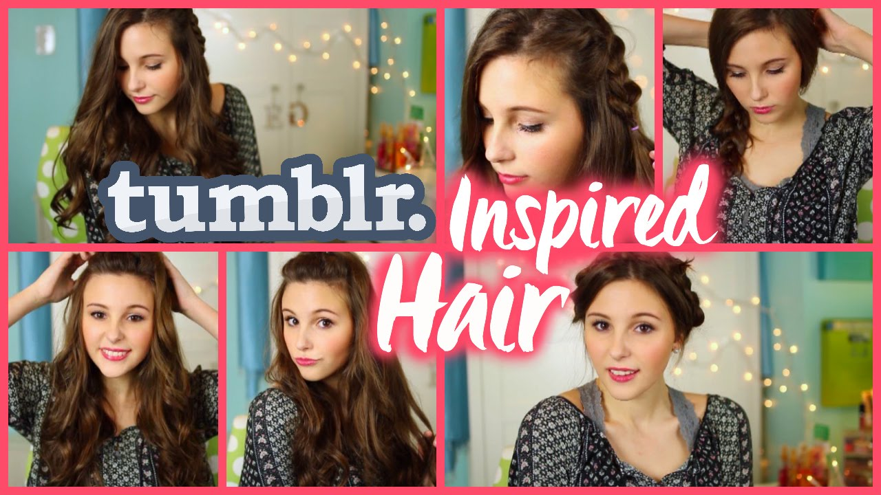 quick & easy tumblr inspired hairstyles! - youtube