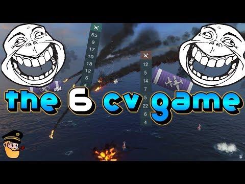 6 CV Game - GG - WP - MM =) World Of Warships