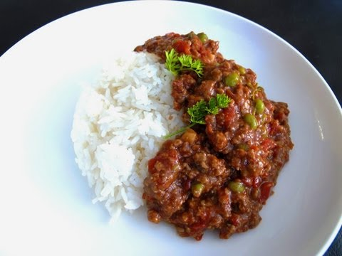 港式免治牛肉飯 Minced beef with rice