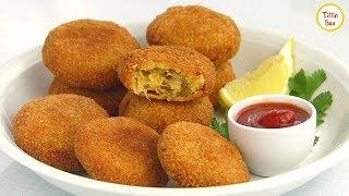 Chicken Cutlet Recipe by Tiffin Box for Kids | Chicken Potato kabab Recipe | Easy Chicken Kebab