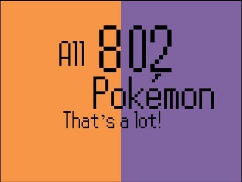All 802 Pokemon (Contains Typos)