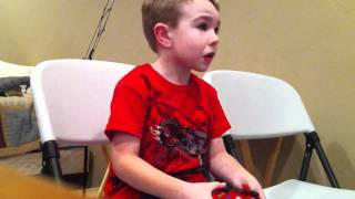 5 year old kid freaks out over COD: Black Ops!!!