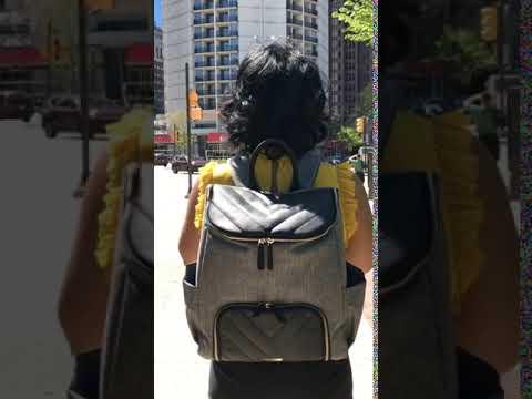 086880f84 MinkeeBlue Nichet Organizational Travel and Work Bag - YouTube