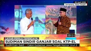 Video Sudirman Sindir Ganjar Soal KTP Elektronik di Debat Terbuka download MP3, 3GP, MP4, WEBM, AVI, FLV Juli 2018