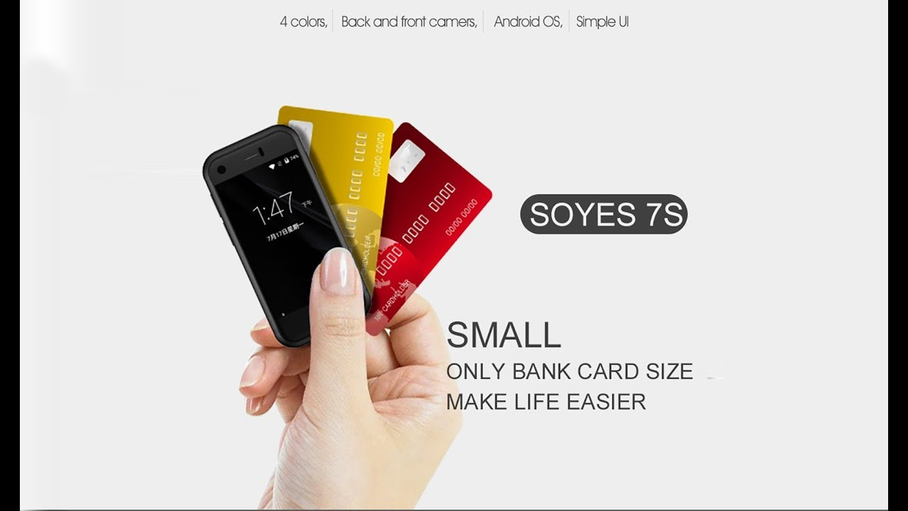 The world's smallest mini Smartphone SOYES 7S