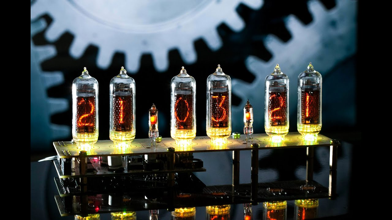 Nixie Clock with IN-14 Tubes Assembled and PCB GRA & AFCH (Arduino .