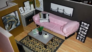 DIY In Depth Miniature Couch, Fireplace, etc