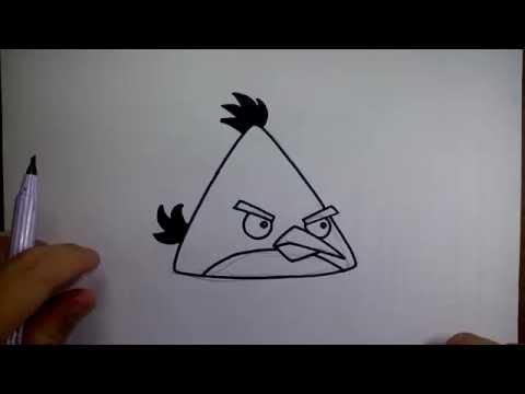 วาดการ์ตูน กันเถอะ สอนวาดรูป การ์ตูน แองกรี้ เบิร์ด สีเหลือง สามเหลี่ยม จาก การ์ตูน แองกรี้ เบิร์ด A