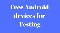 How To Test Your Android App on real device For Free