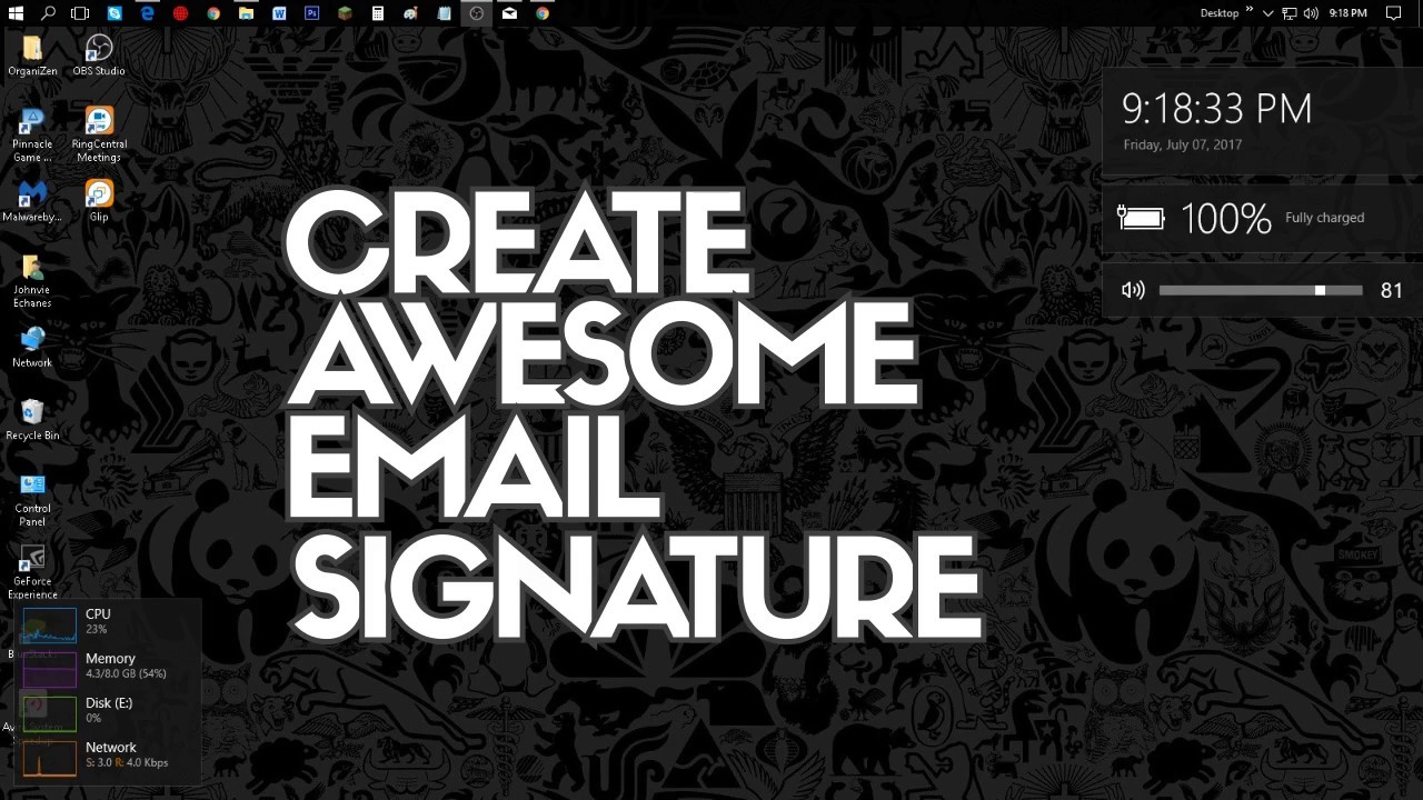 Create an Awesome Gmail Signature with Images & Social Icons ...