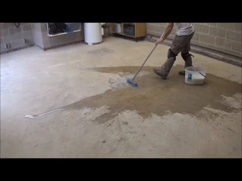 How to seal a concrete garage floor with PVA Part 1  YouTube