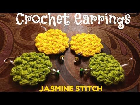 💖 Crochet Earrings💖 Jasmine Stitch Earrings 💖 (0057)