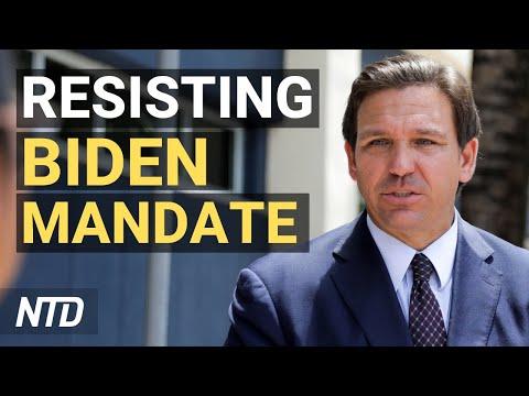 Governors Resist Biden's Vaccine Mandate; Florida's Ban on School Mask Mandates Reinstated | NTD