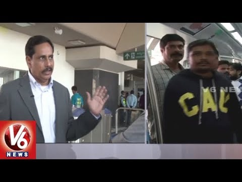 Special Chit Chat With Hyderabad Metro Rail MD NVS Reddy || V6 News