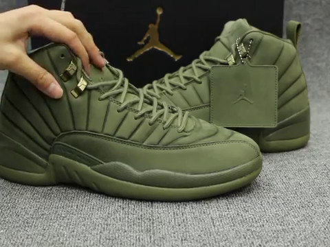uk availability a884e 1b6fc First Look Air Jordan 12 Retro Olive Green hd Review from kicksyeezybay.com