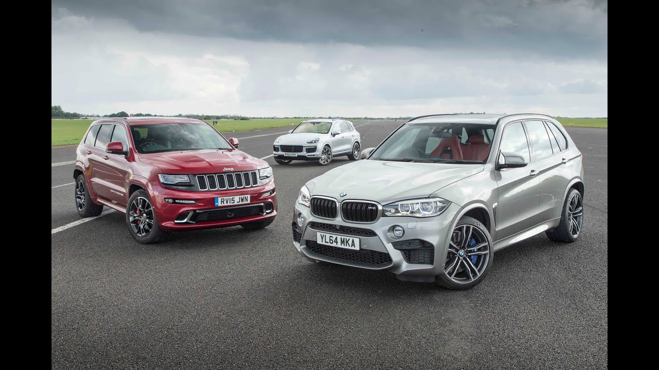 Jeep Grand Cherokee Srt Vs Porsche Cayenne Turbo S Vs Bmw