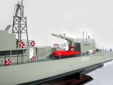 HELLENIC COAST GUARD - CRAFT WOODEN MODEL BOAT
