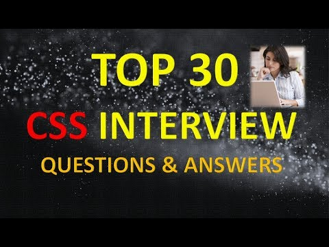 TOP 30 CSS INTERVIEW QUESTIONS AND ANSWERS 1 thumbnail