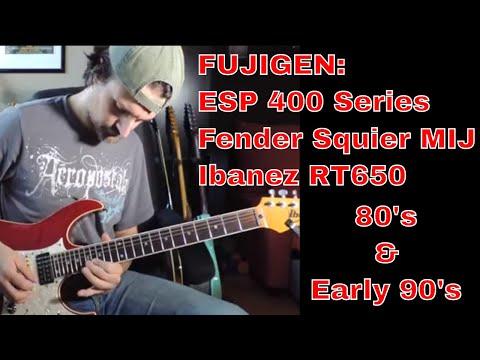 Fujigen Strat Guitar from the 80s: ESP 400 Series vs Fender Squier MIJ vs Ibanez RT 650