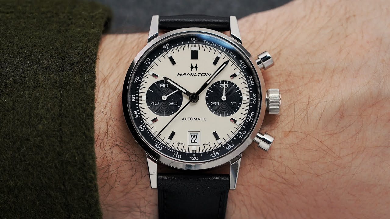 An Amazing Panda Chronograph Hamilton Intra Matic Chronograph Review 2020 Youtube