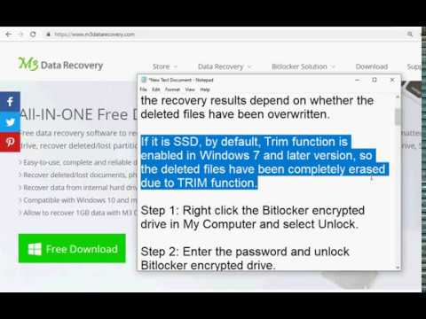 Bitlocker data recovery: How to recover deleted/lost files from Bitlocker  drive?