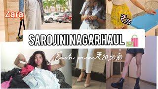 #sarojininagar Sarojani Nagar Haul 🛍️Zara H&M under rs 25,50,100||karuna Rajput