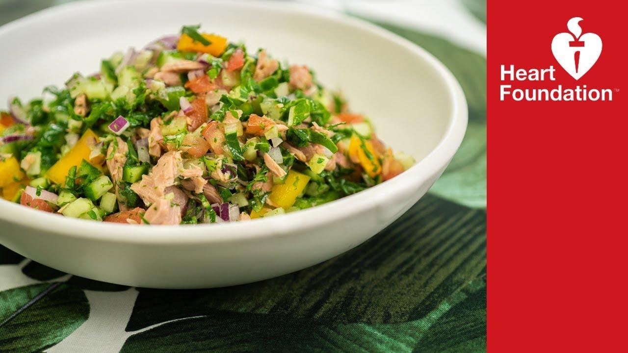 Summer Tuna Salad Healthy Recipes Heart Foundation Nz Youtube