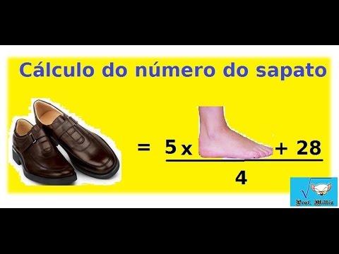 e8b5a086a Calculo do Número do sapato - equação do 1grau - YouTube