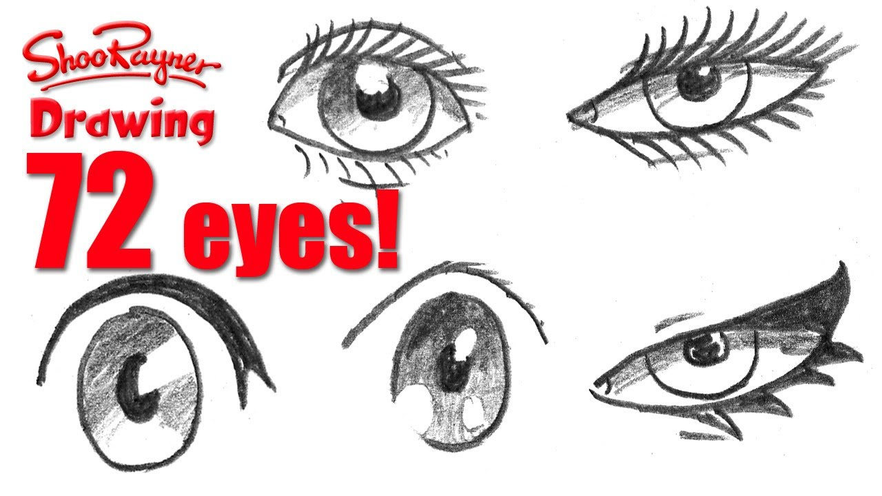 How to draw 72 eyes in different styles youtube