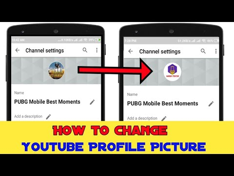 How To Change Youtube Profile Picture On Android And Ios 2019 || Youtube New Update ||