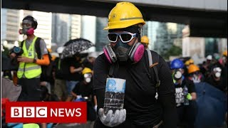 Hong Kong protests: Travel chaos on day of 'city-wide strike' - BBC News
