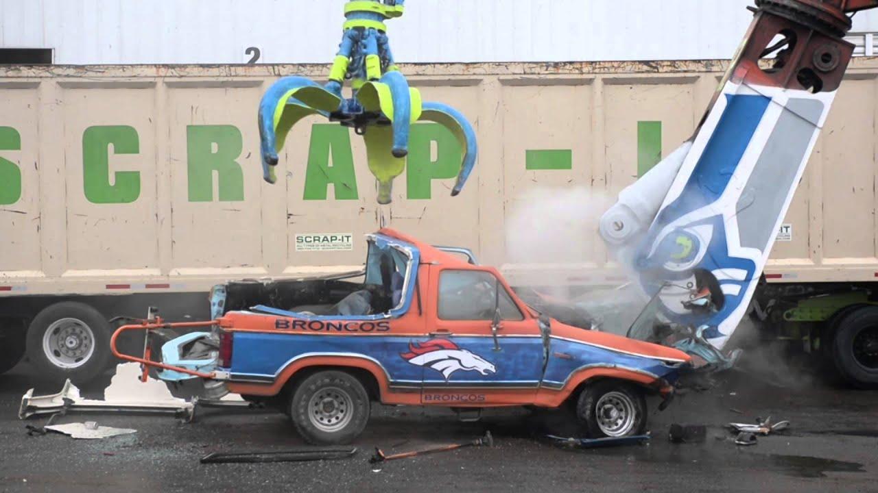 Monster Rally Car Wallpaper Seahawk Fans Destroy Bronco Youtube