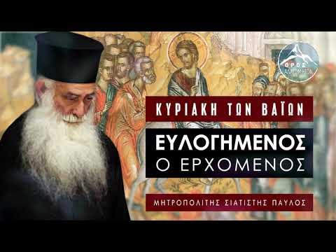 Κυριακή των Βαΐων -  Μητροπολίτης Σισανίου και Σιατίστης Παύλος