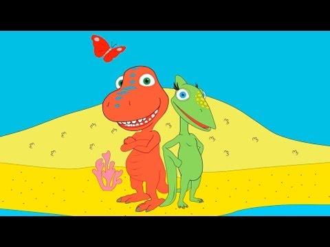 Развивающие мультфильмы - Раскараска из мультфильма Поезд Динозавров