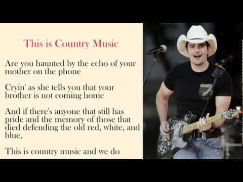 Brad Paisley - This Is Country Music with Lyrics