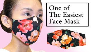 One Of The Easiest 3D Face Mask Tutorial DIY How To Make Best Fit Face Mask at Home