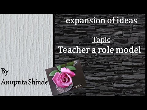 ¶ Teacher a role model ¶