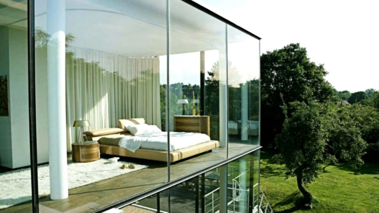 glass house interior design. 27 Modern Glass Houses  RunmanReCords Design YouTube