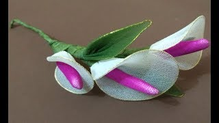 How to make Stocking flowers | hair brooch making | Wedding Hair Brooch Latest Designs