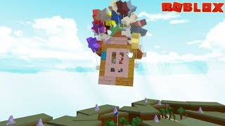 Our Boat Flew!!! Building the Up House in Build a Boat to Treasure / Roblox