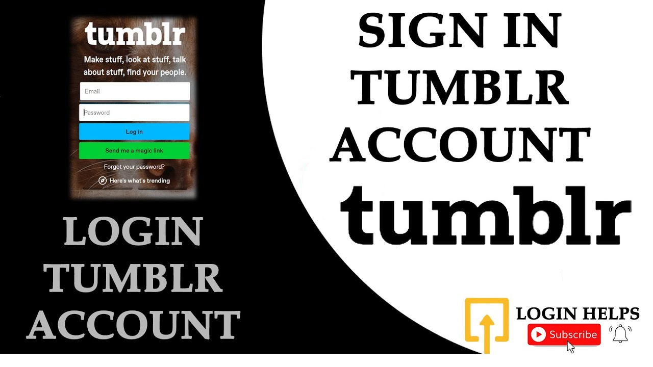 How to Login Tumblr Account Email & Password for Tumblr Login/Sign In