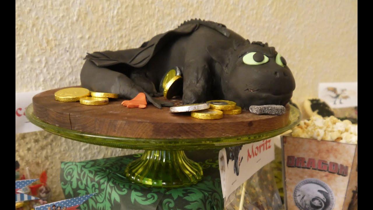 Anleitung Motivtorte Ohnezahn Drachen Zähmen Toothless Teil 2 Formen