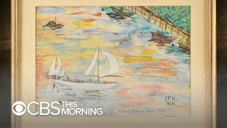 JFK watercolors go up for auction