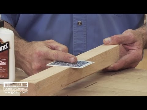Woodworking Tips Using Cauls And Playing Cards For Even Clamp
